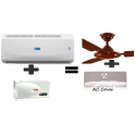 Blue Star 3HW18HAF1 Split AC And 4 Kva Stabilizer And Get Free  Pollar Ceiling Fan and AC Cover