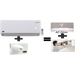 Carrier 1.5Tr Inverter Split Ac And 4kva Stabilizer And Get Free Ac Cover and Ac Installation.