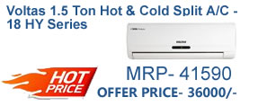 Voltas Hot and cold split ac cheapest online