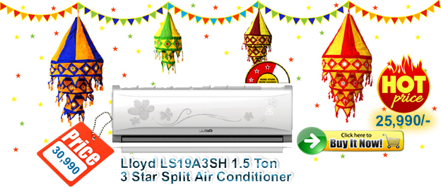 Lloyd SPilt AC Best Deals 1 Ton 3 Star Split Air Conditioner