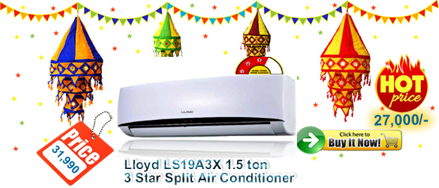 Lloyd 1.5 Ton 3 Star Split Air Conditioner- buy online