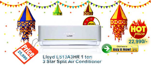 Lloyd 1 Ton 3 Star Split Air Conditioner best Deals Acmahabazaar