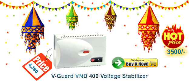 Cheapest V-Guard Voltage Stabilizer 4 KVA for Air conditioners sale