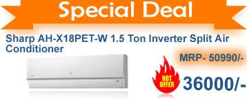 Sharp 1.5 ton inverter split ac cheapest in india