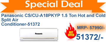 Deal on Panasonic CS/CU-A18PKYP 1.5 Ton Hot and Cold Split Air Conditioner