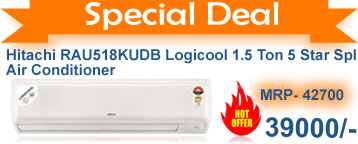 Hitachi 1.5 ton 5 star  split ac cheapest in india