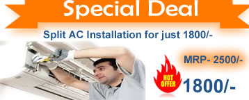 Deep discounted ac installation services in Delhi Lucknow and major cities of India