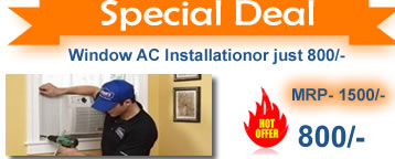 Cheap Window AC Installation services in India - gte your AC installed by Acmahabazaar