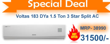 Deep discounts  on voltas 3 star r SPlit  Air Conditioner